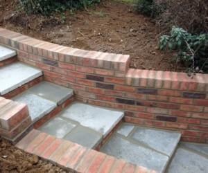 Brick Pathway Wall