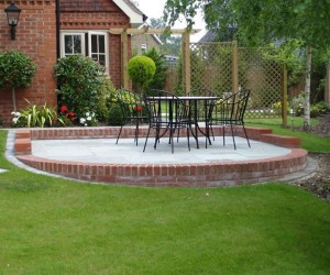 Stepped And Levelled Patio