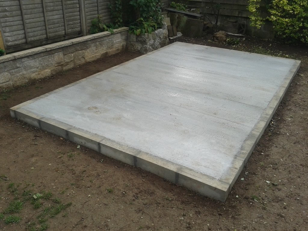 Concrete Shed Base Installers Orpington Bromley Beckenham