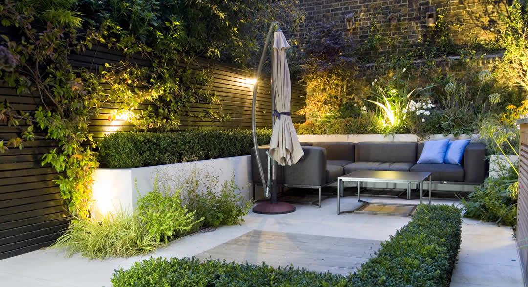 Beautifully Lit Garden
